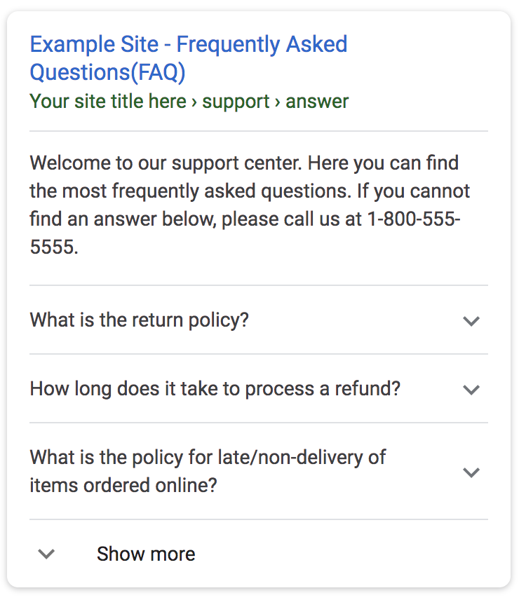 Example FAQ